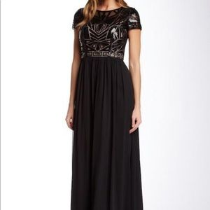 Illusion Bateau Chiffon A-Line Dress